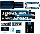 1988 Haro Freestyler SPORT decal kit BLACK / CHROME