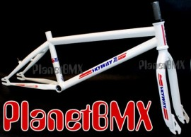 "Skyway 20"" T/A Pro XL frame & fork set WHITE"