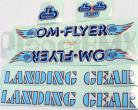 SE Racing OM FLYER frame & fork decal kit BLUE / RED OUTLINE