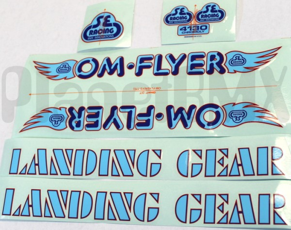 Blue on Clear decals COOK BROS RACING FORK DECALS 1 pair