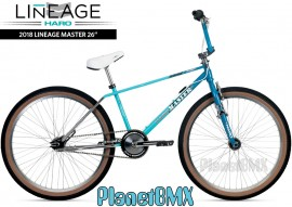 "2018 Haro Lineage Master Freestyler 26"" bike (22"" TT) TURQUOISE/MINT/CHROME"