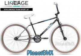 """2018 Haro Lineage Sport Freestyler 26"""" bike (22"""" TT) BLACK/CHROME"""