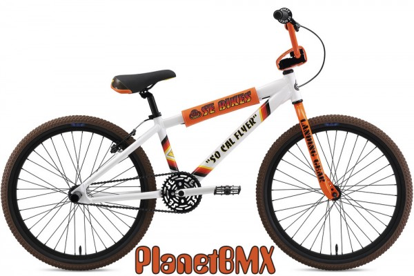 OFFICIALLY LICENSED SE RACING SO CAL FLYER BMX DECAL STICKER SET WHITE