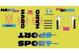 2020 Haro Freestyler Linage SPORT decal kit GREEN