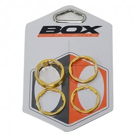 "1"" Box One headset spacer 5-Pack GOLD"