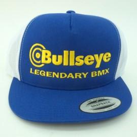 """Bullseye """"Legendary BMX"""" Snapback Hat BLUE / WHITE / GOLD"""
