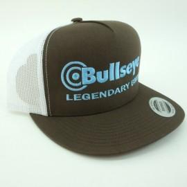 "Bullseye ""Legendary BMX"" Snapback Hat BROWN / BABY BLUE"