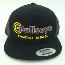 "Bullseye ""SoCal BMX"" Snapback Hat BLACK / GOLD / PURPLE"