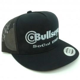 "Bullseye ""SoCal BMX"" Snapback Hat BLACK / SILVER"