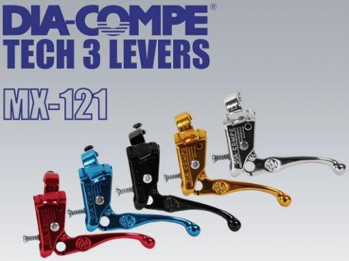New Dia-Compe Tech 3 Old School BMX Brake Lever Set Black MX121