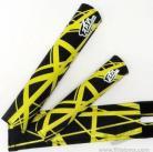 "FLITE ""Panama!"" pad set BLACK w/Yellow Strips"