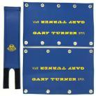 Gary Turner BMX retro vinyl padset w/ snaps BLUE / YELLOW