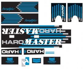 1988 Haro Freestyler MASTER decal kit BLACK / CHROME