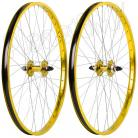"26""x1.75"" Haro Sealed Bearing Alloy Wheelset GOLD"