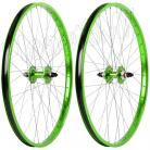 "26""x1.75"" Haro Sealed Bearing Alloy Wheelset GREEN"