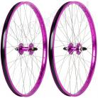"26""x1.75"" Haro Sealed Bearing Alloy Wheelset PURPLE"
