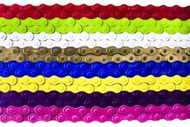 "KMC 1/8"" Z410 chain IN COLORS"