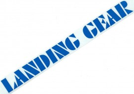 "SE ""Landing Gear"" fork decals 12"" BLUE"