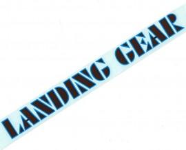 """SE """"Landing Gear"""" fork decals 8.5"""" BROWN w/ BLUE outline"""