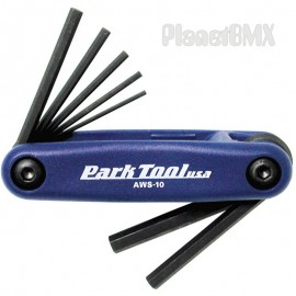 Park AWS-10 Fold Up Metric Hex Wrench Set