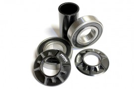 Proper Microlite 22mm Mid bottom bracket kit BLACK or SILVER