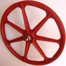 "RED 24"" Skyway TUFF WHEEL SET- Freewheel"