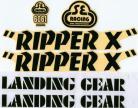 SE Racing RIPPER X frame & fork decal kit BLACK