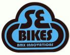 SE Bikes Bubble logo vinyl decal BLACK/BABY BLUE