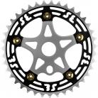 SE Racing 39T 5-bolt Chainring / Spider combo BLACK/GOLD/SILVER