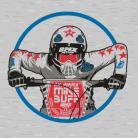 "SE Racing ""MIKE BUFF"" T-Shirt HEATHER GRAY"