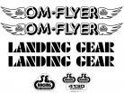 SE Racing OM FLYER frame & fork decal kit BLACK