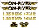 SE Racing OM FLYER frame & fork decal kit GOLD