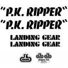SE Racing PK Ripper frame & fork decal kit BLACK