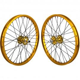 """20""""x1.75"""" SE Racing Sealed Bearing Wheelset GOLD"""