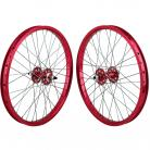 "20""x1.75"" SE Racing Sealed Bearing Wheelset RED"