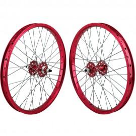 """20""""x1.75"""" SE Racing Sealed Bearing Wheelset RED"""