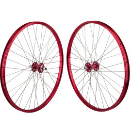 """29""""x1.75"""" SE Racing Sealed Bearing Wheelset RED"""