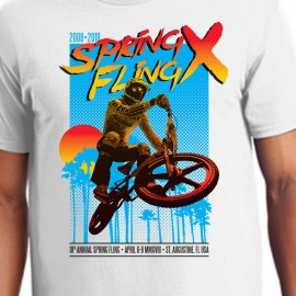 2018 Florida BMX 10th Annual Spring Fling T-shirt IN COLORS
