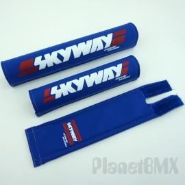 Skyway Frameset 3-Piece Pad Set BLUE (Skyway Designs)