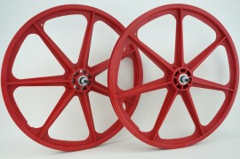 "RED 24"" Skyway TUFF WHEEL SET- Freewheel"
