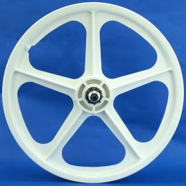 "White 20"" Skyway Tuff Wheel II Set 9 TOOTH CASSETTE"