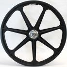 """BLACK Skyway 24"""" Retro Tuff Wheels with SILVER alloy flanges (Anniversary Edition)"""