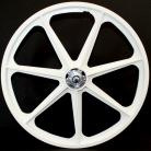 "50th Anniversary Skyway 24"" Tuff Wheels WHITE with alloy flanges"