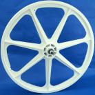 """WHITE 24"""" Skyway TUFF WHEEL SET- Freewheel"""