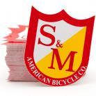 S&M Bikes medium shield logo sticker 5-pack