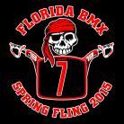 2015 Florida BMX 7th Annual Spring Fling T-shirt BLACK or RED