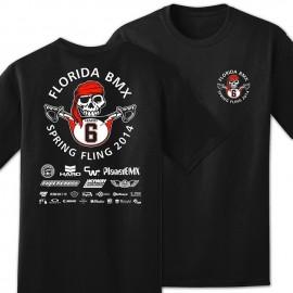 2014 Florida BMX 6th Annual Spring Fling T-shirt BLACK or WHITE