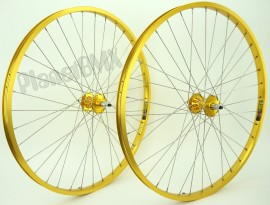 "29"" Sun Rynolite XL wheelset w/ TNT REVOLVER High flange sealed hubs GOLD"