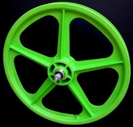 """GREEN 20"""" Skyway TUFF WHEEL II SET- Freewheel"""