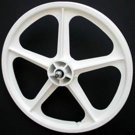 "WHITE 20"" Skyway TUFF WHEEL II SET- Freewheel"